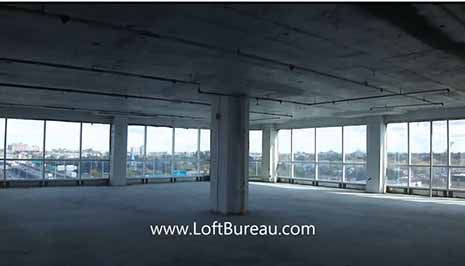 Loft style office space with 360° view