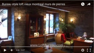 loft style office space with stone walls old Montreal